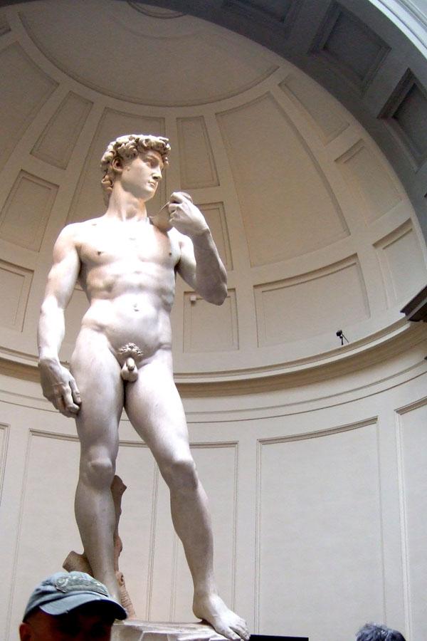 Statue of David at the Uffizi Gallery, Florence