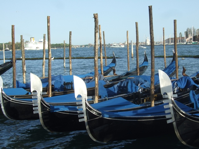 Gondolas in Venice - Photo by Margie Miklas
