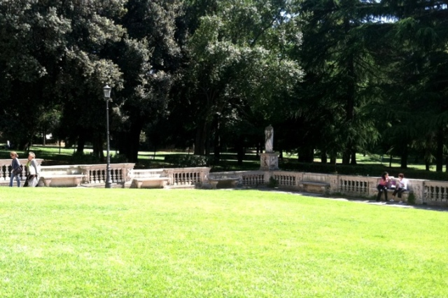 Borghese Park in Rome