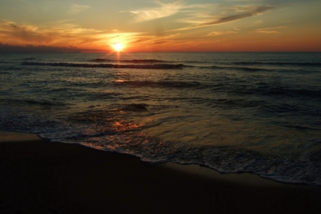 Sunset in Cefalu`