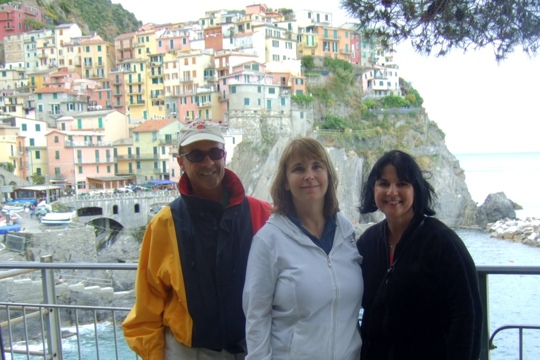In the Cinque Terre with Rick and Monica