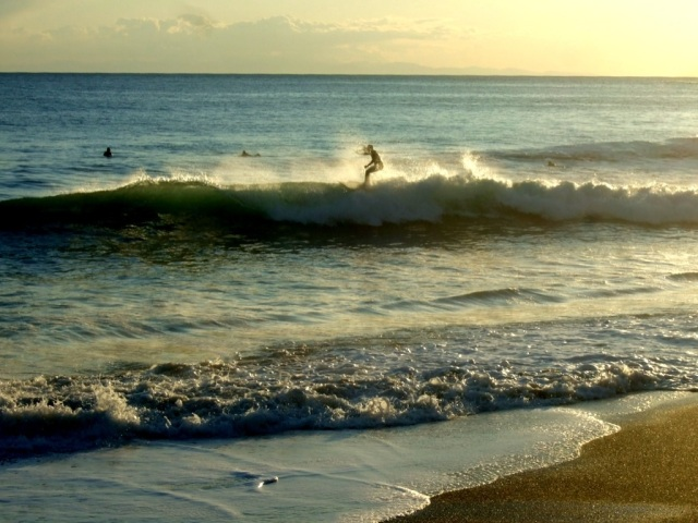 Levanto surfers Photo by Margie Miklas
