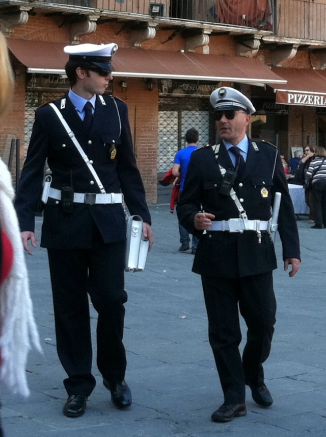 Police officers in Italy