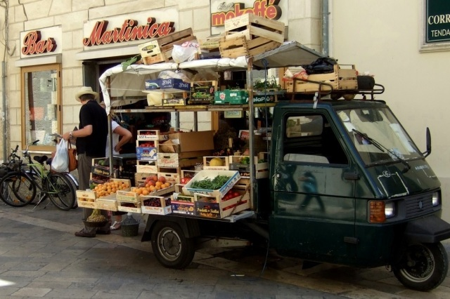 Fruits and Vegetables for sale in Lecce, Italy