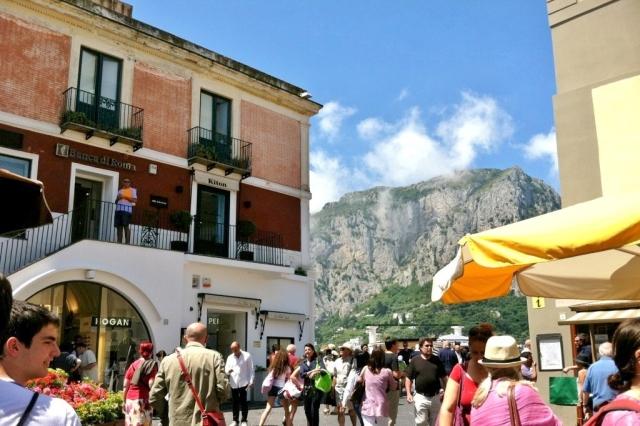Busy Piazza in Capri