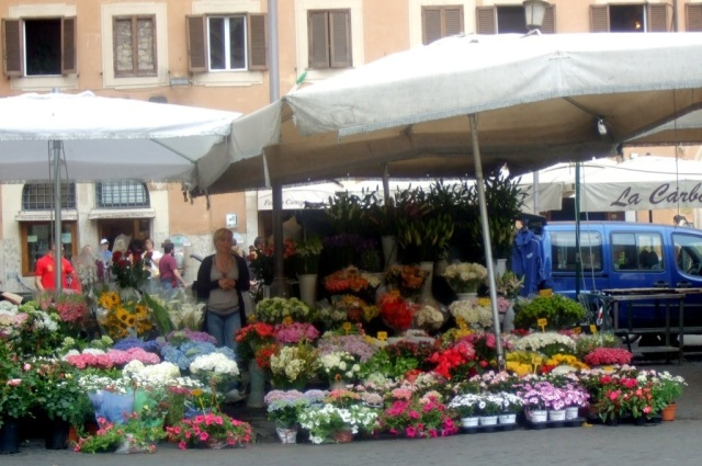 Flowers at Campo d' Fiori