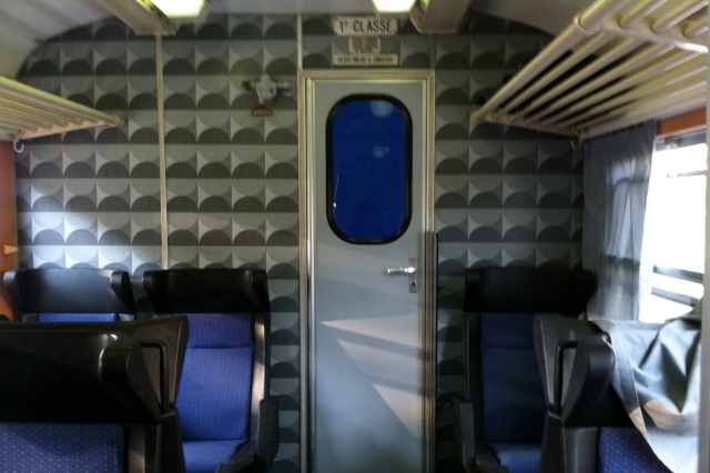 Inside a Newer Train in Italy