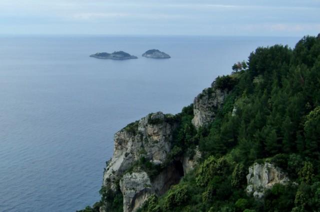 Amalfi Coast with I Galli in background Photo by Margie Miklas