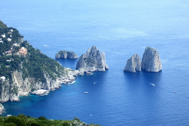 Amalfi Coast - view from Monte Solaro Chairlift in Capri-Photo by margie Miklas