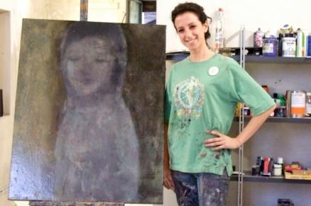 Artist Miriam Pace in Caltagirone