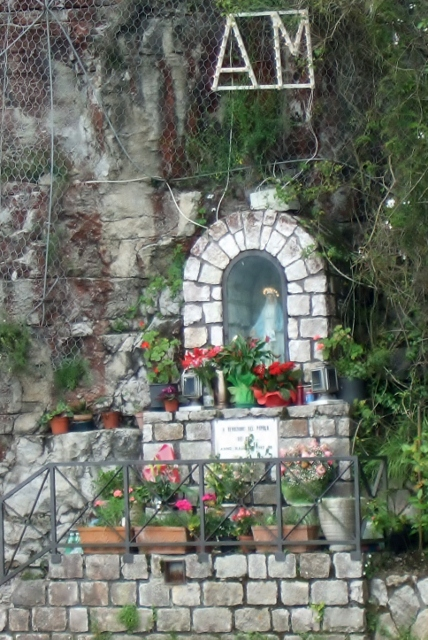 Outdoor shrine along the Amalfi Coast