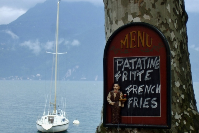 French Fries sign in Varenna