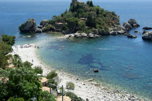 Isola Bella in Taormina Photo by Margie Mikals