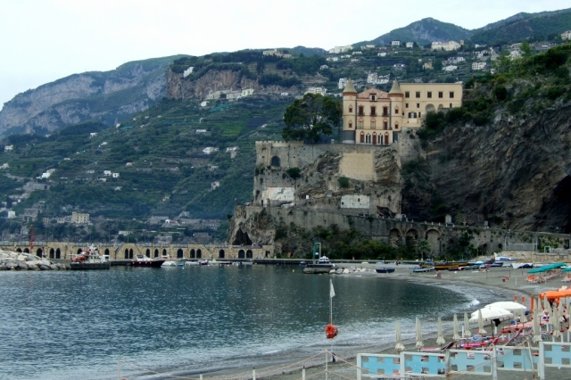 Maoiri beach and dock, Amalfi Coast