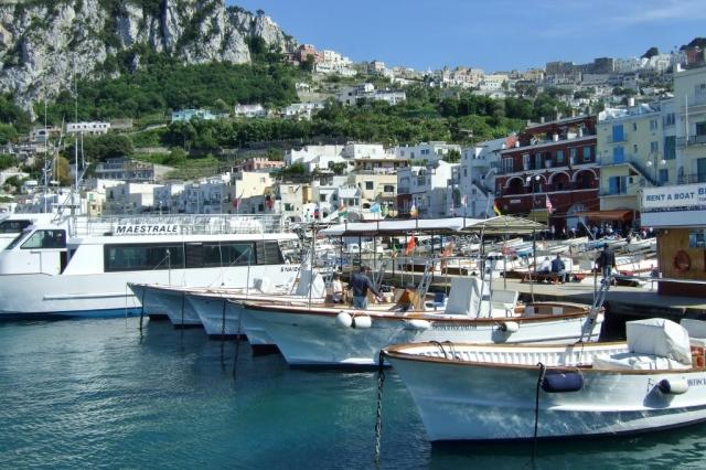 Marina Grande at the port of Capri