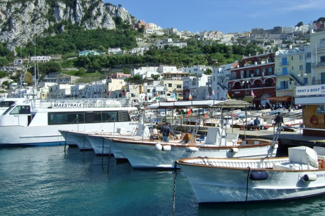 Marina Grande at the port of Capri
