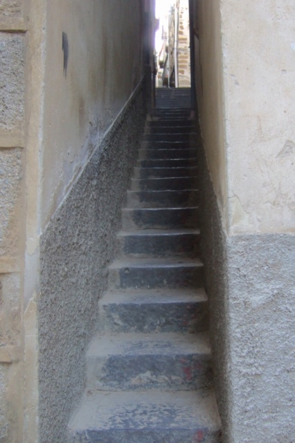 Narrow stairway in Centro Storico of Caltagirone Photo by Margie Miklas