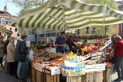 Outdoor market in Venice