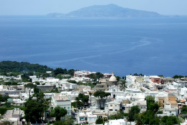 View of Capri from Monte Solaro Chairlift