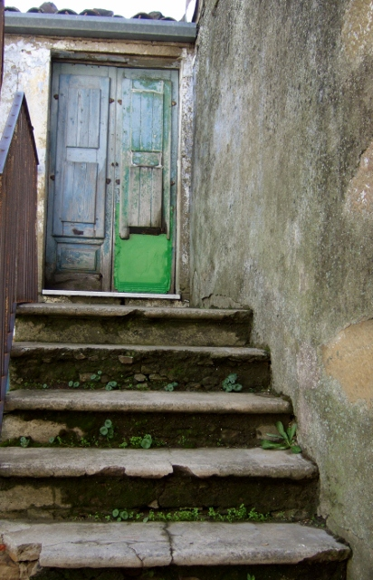 Doorway and stairs in Cesaro` Sicily