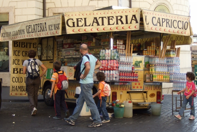 Gelato and cold drinks on the street