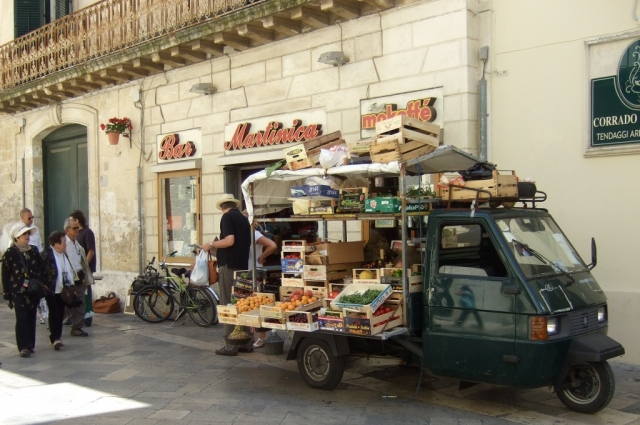 Mobile fruit and vegetable  stand in Lecce