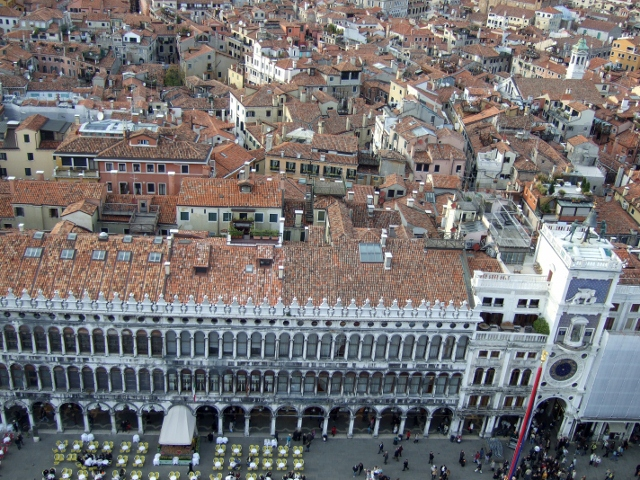 View of St Mark's Square from above