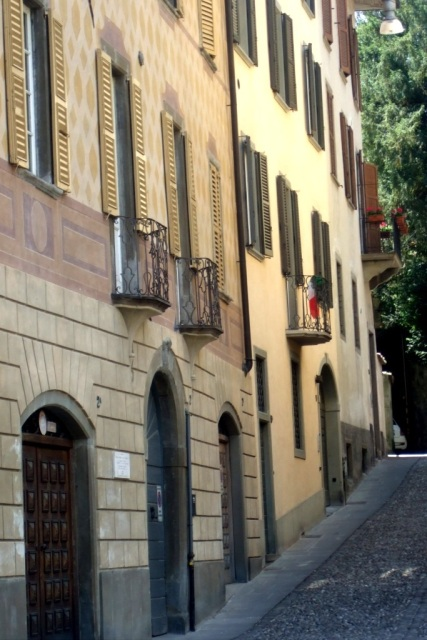 An inclined street in Bergamo Photo bymargie Miklas