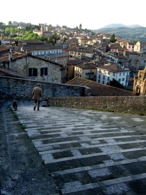 Steep hills in Perugia Photo by Margie Miklas