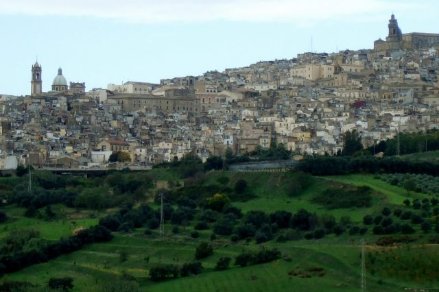 Caltagirone, Sicily from a distance Photo by Margie Miklas