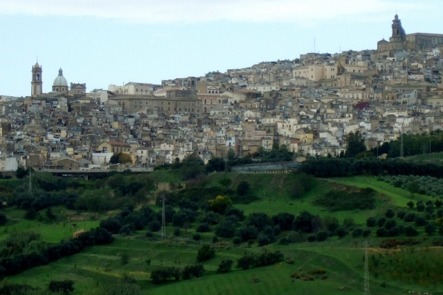 Caltagirone from a distance photo by Margie Miklas