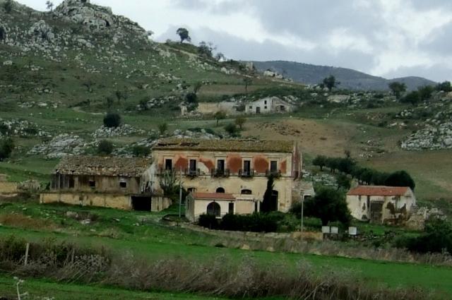 Sicilian countryside outside  Caltagirone