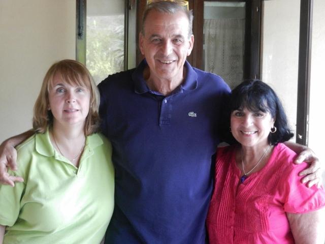 Signor Filippo Testa and Monica and Margie