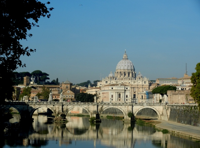 View of St Peter's from the Tiber in Rome Photo by Margie MIklas