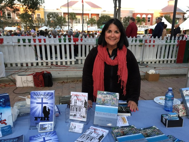 Book selling Photo by Author Margie Miklas