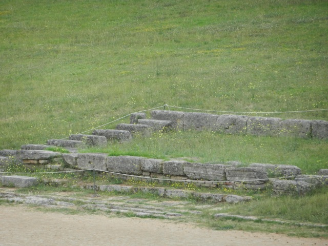 Some of the seats at Olympia in Greece Photo by Margie Miklas