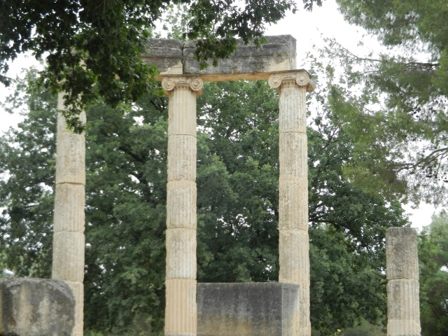 Temple of Zeus in Olympia, Greece Photo by Margie Miklas image