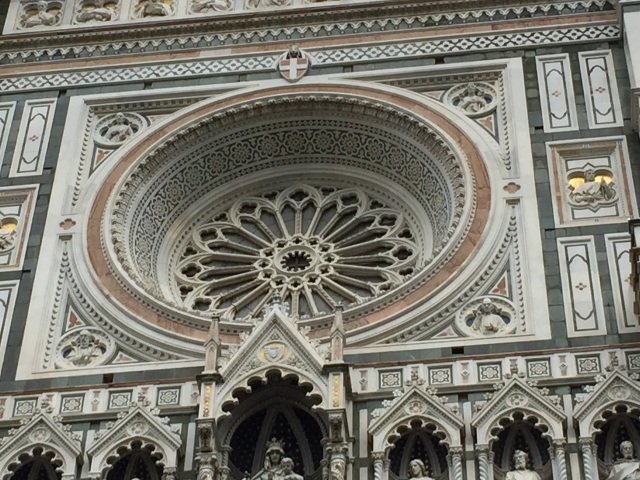 Rose window architecture of Florence Cathedral