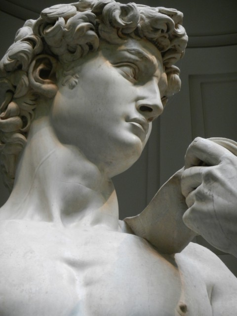 Original statue of David by Michelangelo ~ Photo by Margie Miklas
