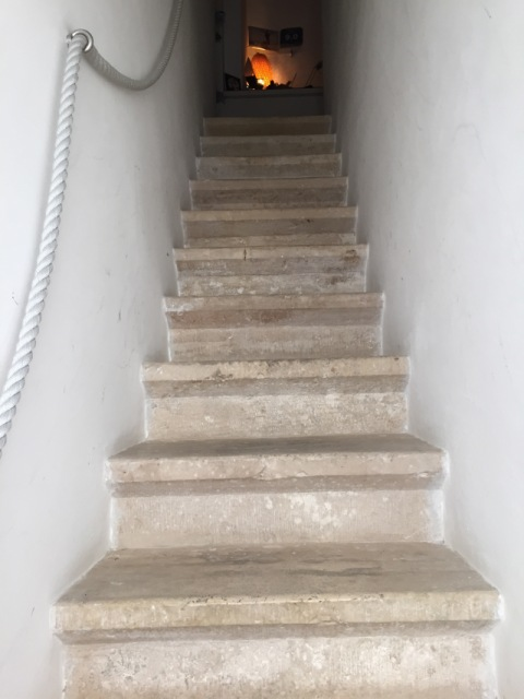 Stairway up to a B&B in Polignano a Mare - Photo by Margie Miklas
