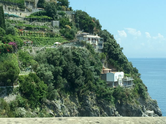 Amalfi Coast approaching Positano - Photo by Margie Miklas