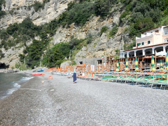 Fornillo Beach at Hotel Pupetto in Positano - Photo by Margie Miklas