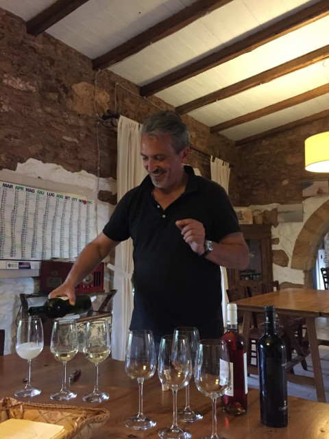 Wine tasting with authentic Puglia wines Photo by Margie Miklas