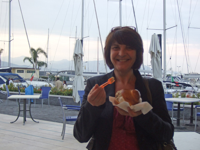 Riposto gelato with Teresa - Photo by Margie Miklas