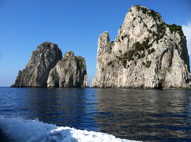 Fraglioni Rocks at Capri Photo by Margie Miklas