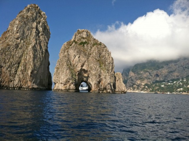 Faraglioni Rocks off the coast of Capri - Photo by Margie Miklas