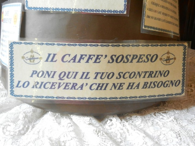 Il Caffe` Sospeso photo by Margie Miklas