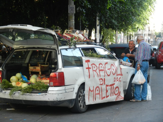 Produce on the streets of Catania - SICILY - Photo by Margie Miklas