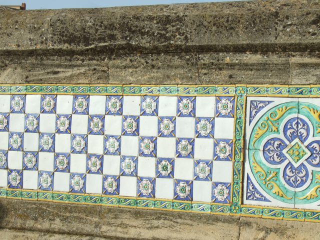 Ceramic wall in Caltagirone, Sicily Photo by Margie Miklas