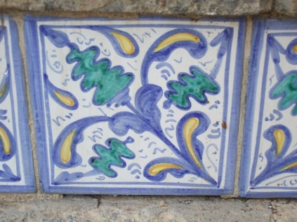 Ceramic tile Caltagirone, Siciily Photo by Margie Miklas